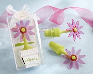 'Blooming Flower' Bottle Stopper Favor image