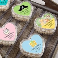 Personalized Birthday Heart Shaped Favor Boxes (Set of 12)
