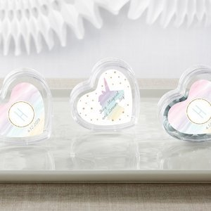 Enchanted Party Unicorn Heart Favor Containers (Set of 12) image