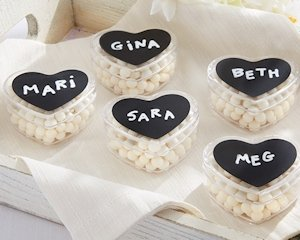 Heart Shaped Containers with Chalkboard Labels (Set of 12) image