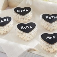 Heart Shaped Containers with Chalkboard Labels (Set of 12)