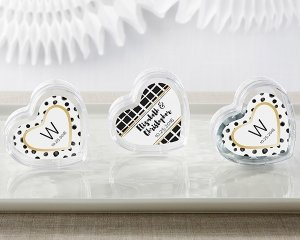 Modern Classic Heart Favor Container (Set of 12) image