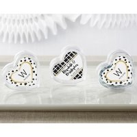 Modern Classic Heart Favor Container (Set of 12)