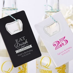 Personalized Birthday Party Favor Bottle Openers image