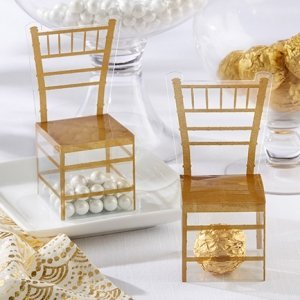 Gold Chair Favor Box (Set of 24) image