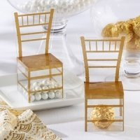 Gold Chair Favor Box (Set of 24)
