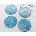 Blue Glitter Coasters (Set of 4)