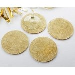 Gold Glitter Coasters (Set of 4)