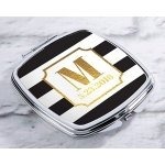 Personalized Classic Wedding Silver Compact Mirror Favors