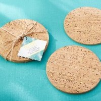Tropical Chic Gold Glitz Cork Coasters (Set of 2)