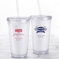 Personalized Adult Birthday Printed Acrylic Tumbler