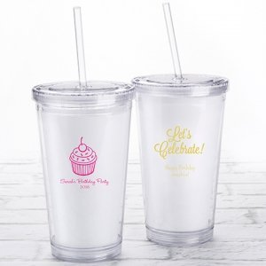 Personalized Birthday Printed Acrylic Tumblers image