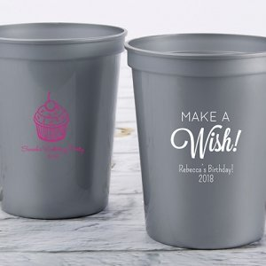 Personalized Birthday Stadium Cup Favors image