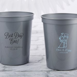 Personalized Wedding Stadium Cup Favors image