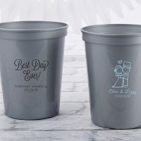 Personalized Wedding Stadium Cup Favors