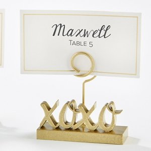 XOXO Gold Place Card Holders (Set of 6) image