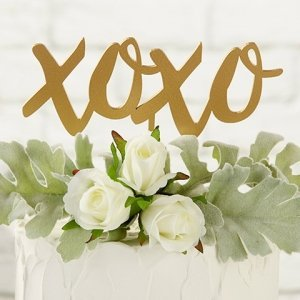 Gold XOXO Cake Topper image