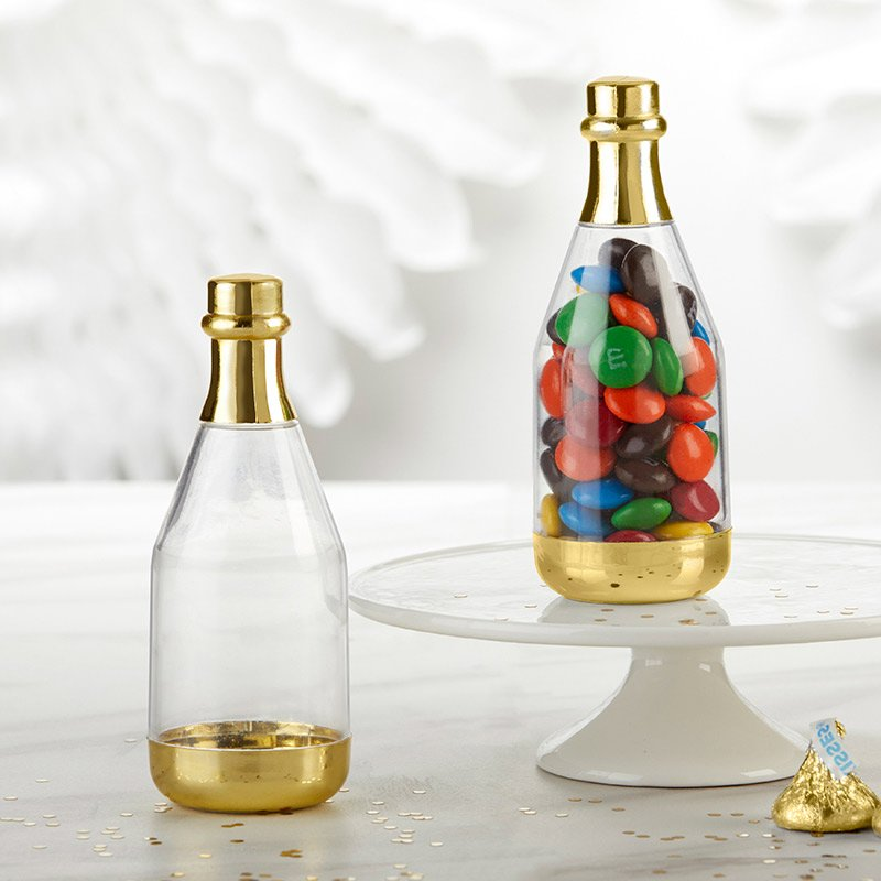 Gold DIY Champagne Bottle Favor Containers (Set of 12) image
