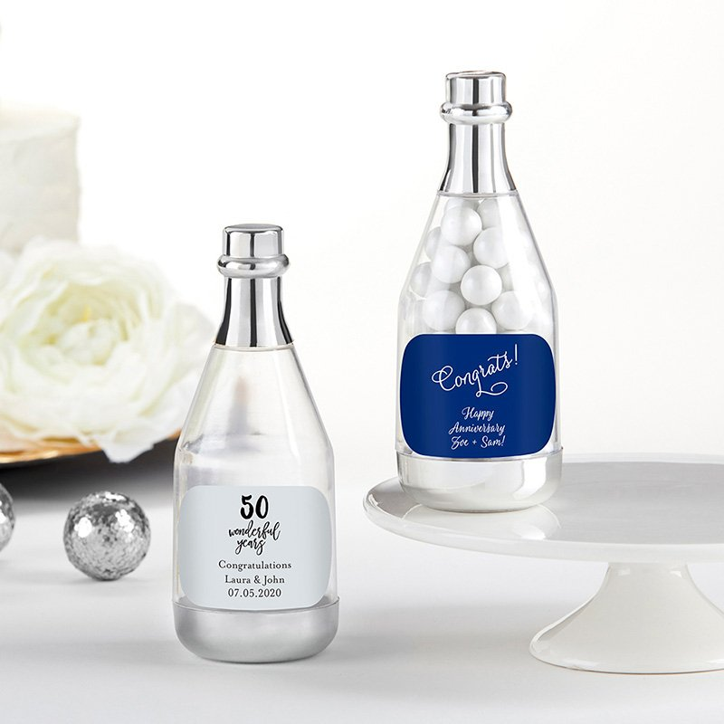 Personalized Silver Anniversary Champagne Bottle Containers image