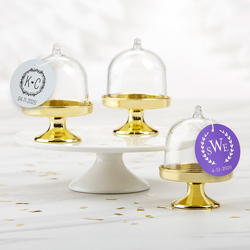 Personalized Monogram Small Gold Base Bell Jar (Set of 12) image
