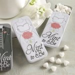 'Mint to Be' Bride Slide Mint Tins with Heart Mints