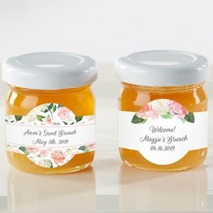Personalized Floral Brunch Honey Jar (Set of 12) image