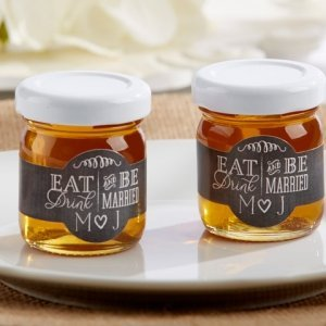Personalized Eat Drink & Be Married Clover Honey (Set of 12) image