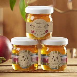 Personalized Clover Honey Jar Favors by Kate Aspen image