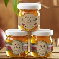 Personalized Fall Design Clover Honey Jar Favors (Set of 12)