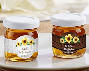 Personalized Sunflower Clover Honey (Set of 12) image