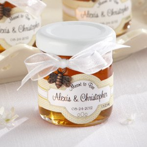 Personalized Meant to Bee Honey Wedding Favors (Set of 12) image