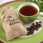 The Perfect Blend Burlap Bag Wedding Favors (Set of 12)