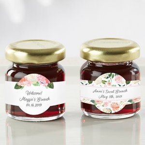 Personalized Floral Brunch Strawberry Jam (Set of 12) image