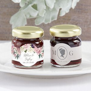 Personalized English Garden Strawberry Jam Favor (Set of 12) image