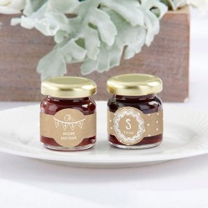 Personalized Strawberry Jam - Rustic Charm Baby Shower (Set image
