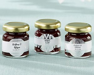 Personalized Strawberry Jam - Silver Foil (Set of 12) image