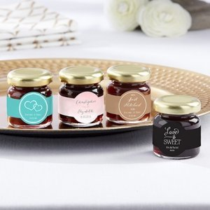 Personalized Wedding Design Strawberry Jam Favor (Set of 12) image