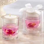 Glass Orchid Gel Candle Favors