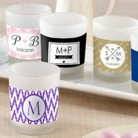 Personalized Glass Votive Candle Favors for Weddings