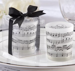 Music of the Heart Frosted Glass Candles (Set of 4) image