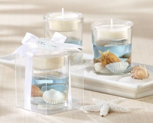 'Seashell' Gel Tealight Candle Holders image