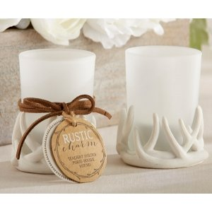 Rustic Charm Antler Tealight Holder (Set of 4) image