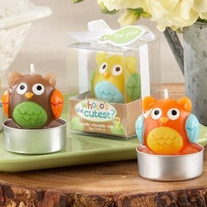 Who's the Cutest Baby Owl Candles (Set of 4) image
