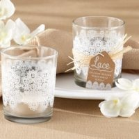 Lace Glass Tealight Holder (Set of 4)