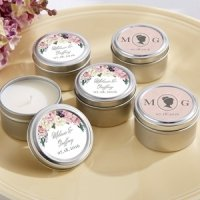 Personalized English Garden Travel Candle