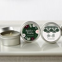 Personalized Romantic Garden Travel Candle Favors
