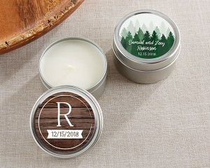 Personalized Winter Design Travel Candle image