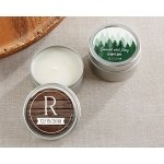 Personalized Winter Design Travel Candle
