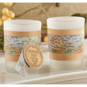 Our Adventure Begins Vintage Map Tealight Holder (Set of 4) image