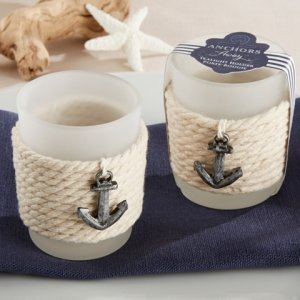 Anchors Away Rope Tealight Holder (Set of 4) image
